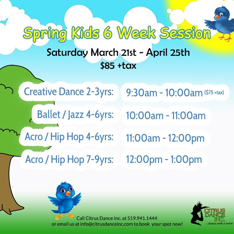 Spring Kids 6 Week Session